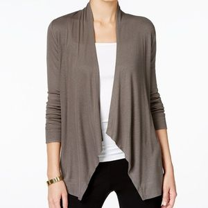 INC Draped Open-Front Knit Cardigan